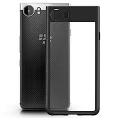 Funda Bumper Silicona Transparente Mate para Blackberry KEYone Negro