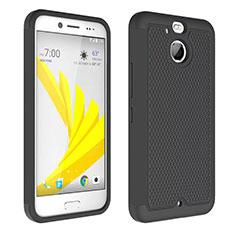 Funda Bumper Silicona Transparente Mate para HTC Bolt Negro