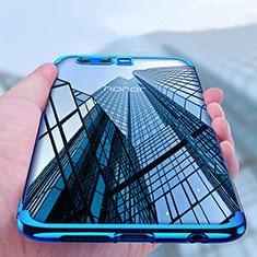 Funda Bumper Silicona Transparente Mate para Huawei Honor 9 Azul