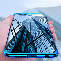 Funda Bumper Silicona Transparente Mate para Huawei Honor 9 Premium Azul