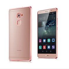 Funda Bumper Silicona Transparente Mate para Huawei Mate S Oro Rosa