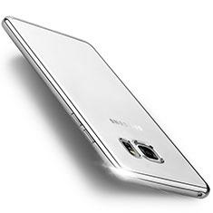 Funda Bumper Silicona Transparente Mate para Samsung Galaxy Note 7 Plata