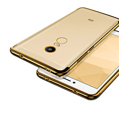 Funda Bumper Silicona Transparente Mate para Xiaomi Redmi Note 4X Oro