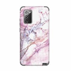 Funda Bumper Silicona y Plastico Carcasa Frontal y Trasera 360 Grados N02 para Samsung Galaxy Note 20 5G Gris