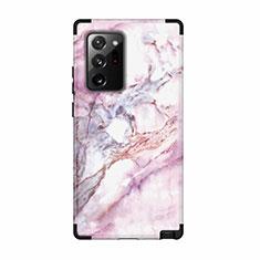 Funda Bumper Silicona y Plastico Carcasa Frontal y Trasera 360 Grados N02 para Samsung Galaxy Note 20 Ultra 5G Negro