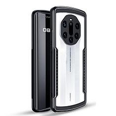 Funda Bumper Silicona y Plastico Carcasa Frontal y Trasera 360 Grados para Huawei Mate 40 RS Negro