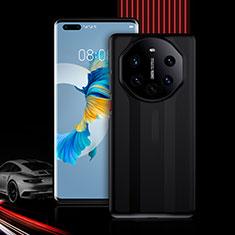 Funda Bumper Silicona y Plastico Carcasa Frontal y Trasera 360 Grados R01 para Huawei Mate 40 Pro+ Plus Negro
