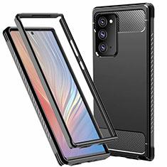 Funda Bumper Silicona y Plastico Carcasa Frontal y Trasera 360 Grados R01 para Samsung Galaxy Note 20 5G Negro