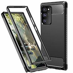 Funda Bumper Silicona y Plastico Carcasa Frontal y Trasera 360 Grados R01 para Samsung Galaxy Note 20 Ultra 5G Negro