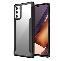 Funda Bumper Silicona y Plastico Carcasa Frontal y Trasera 360 Grados R02 para Samsung Galaxy Note 20 5G Negro