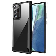 Funda Bumper Silicona y Plastico Carcasa Frontal y Trasera 360 Grados R02 para Samsung Galaxy Note 20 Ultra 5G Negro