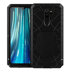 Funda Bumper Silicona y Plastico Carcasa Frontal y Trasera 360 Grados R02 para Xiaomi Redmi Note 8 Pro Negro