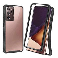 Funda Bumper Silicona y Plastico Carcasa Frontal y Trasera 360 Grados R04 para Samsung Galaxy Note 20 Ultra 5G Negro