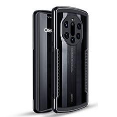 Funda Bumper Silicona y Plastico Carcasa Frontal y Trasera 360 Grados U01 para Huawei Mate 40 RS Negro