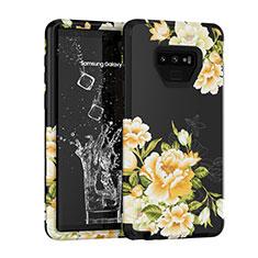 Funda Bumper Silicona y Plastico Carcasa Frontal y Trasera 360 Grados U01 para Samsung Galaxy Note 9 Negro