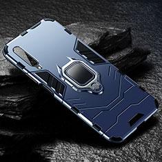 Funda Bumper Silicona y Plastico Mate Carcasa con Magnetico Anillo de dedo Soporte para Huawei Y9s Azul