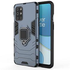 Funda Bumper Silicona y Plastico Mate Carcasa con Magnetico Anillo de dedo Soporte para OnePlus 8T 5G Azul