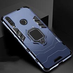 Funda Bumper Silicona y Plastico Mate Carcasa con Magnetico Soporte para Huawei Honor 20 Lite Azul