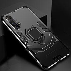 Funda Bumper Silicona y Plastico Mate Carcasa con Magnetico Soporte para Realme X3 SuperZoom Negro