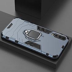 Funda Bumper Silicona y Plastico Mate Carcasa con Magnetico Soporte para Xiaomi Mi 9 Pro 5G Azul