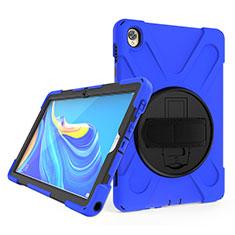 Funda Bumper Silicona y Plastico Mate Carcasa con Soporte A01 para Huawei MatePad 10.8 Azul