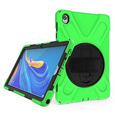 Funda Bumper Silicona y Plastico Mate Carcasa con Soporte A01 para Huawei MatePad 10.8 Verde