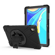 Funda Bumper Silicona y Plastico Mate Carcasa con Soporte A01 para Huawei MediaPad M6 10.8 Negro