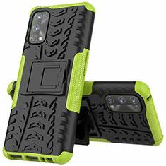 Funda Bumper Silicona y Plastico Mate Carcasa con Soporte A01 para Realme 7 Pro Verde