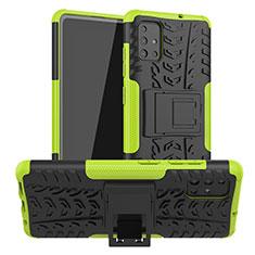 Funda Bumper Silicona y Plastico Mate Carcasa con Soporte A01 para Samsung Galaxy A51 5G Verde