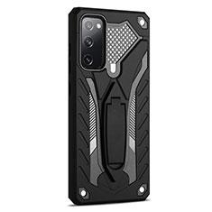 Funda Bumper Silicona y Plastico Mate Carcasa con Soporte A01 para Samsung Galaxy S20 FE 5G Negro
