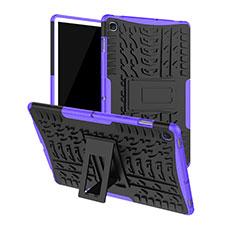 Funda Bumper Silicona y Plastico Mate Carcasa con Soporte A01 para Samsung Galaxy Tab S5e Wi-Fi 10.5 SM-T720 Morado