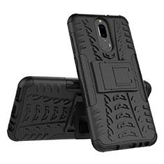 Funda Bumper Silicona y Plastico Mate Carcasa con Soporte A02 para Huawei Mate 10 Lite Negro
