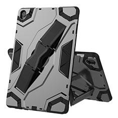 Funda Bumper Silicona y Plastico Mate Carcasa con Soporte A02 para Huawei MediaPad M6 10.8 Negro