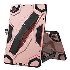 Funda Bumper Silicona y Plastico Mate Carcasa con Soporte A02 para Huawei MediaPad M6 10.8 Oro Rosa