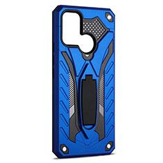 Funda Bumper Silicona y Plastico Mate Carcasa con Soporte A02 para Realme C17 Azul