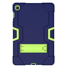 Funda Bumper Silicona y Plastico Mate Carcasa con Soporte A03 para Samsung Galaxy Tab S5e 4G 10.5 SM-T725 Azul