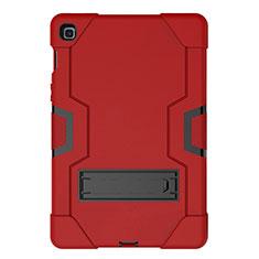 Funda Bumper Silicona y Plastico Mate Carcasa con Soporte A03 para Samsung Galaxy Tab S5e 4G 10.5 SM-T725 Rojo