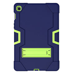 Funda Bumper Silicona y Plastico Mate Carcasa con Soporte A03 para Samsung Galaxy Tab S5e Wi-Fi 10.5 SM-T720 Azul