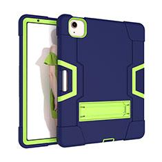 Funda Bumper Silicona y Plastico Mate Carcasa con Soporte para Apple iPad Air 10.9 (2020) Verde