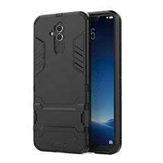 Funda Bumper Silicona y Plastico Mate Carcasa con Soporte para Huawei Maimang 7 Negro