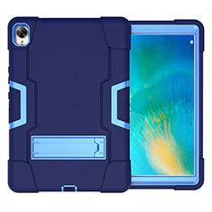 Funda Bumper Silicona y Plastico Mate Carcasa con Soporte para Huawei MatePad 10.8 Azul