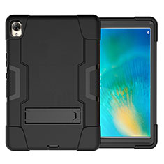 Funda Bumper Silicona y Plastico Mate Carcasa con Soporte para Huawei MatePad 10.8 Negro