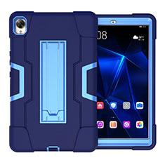 Funda Bumper Silicona y Plastico Mate Carcasa con Soporte para Huawei MediaPad M6 10.8 Azul