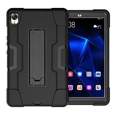 Funda Bumper Silicona y Plastico Mate Carcasa con Soporte para Huawei MediaPad M6 8.4 Negro