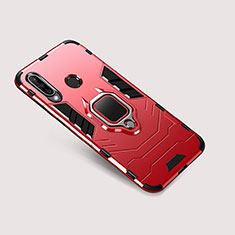Funda Bumper Silicona y Plastico Mate Carcasa con Soporte para Huawei P30 Lite New Edition Rojo