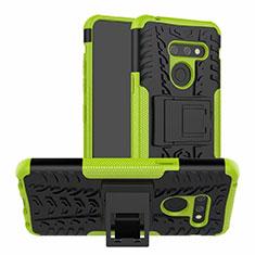 Funda Bumper Silicona y Plastico Mate Carcasa con Soporte para LG G8 ThinQ Verde