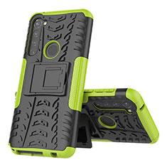 Funda Bumper Silicona y Plastico Mate Carcasa con Soporte para Motorola Moto G Stylus Verde