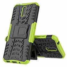 Funda Bumper Silicona y Plastico Mate Carcasa con Soporte para Nokia 2.3 Verde