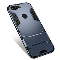 Funda Bumper Silicona y Plastico Mate Carcasa con Soporte para OnePlus 5T A5010 Gris