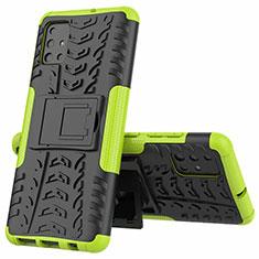 Funda Bumper Silicona y Plastico Mate Carcasa con Soporte para Samsung Galaxy A51 4G Verde